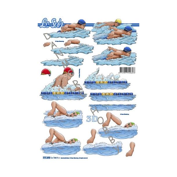 3D A4 Etappe svømmere