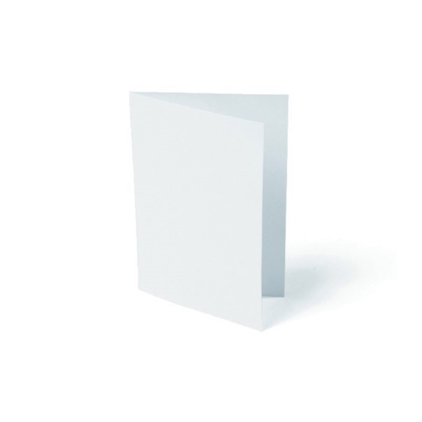 Kort foldet A7 200g hvid 10stk