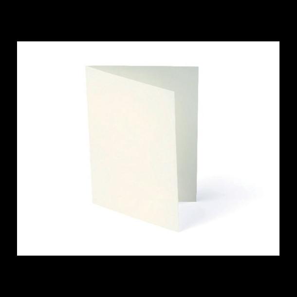 Kort foldet A7 200g creme 10stk