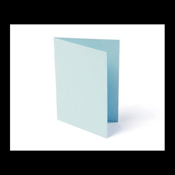 Kort foldet A7 200g l.blå 10stk