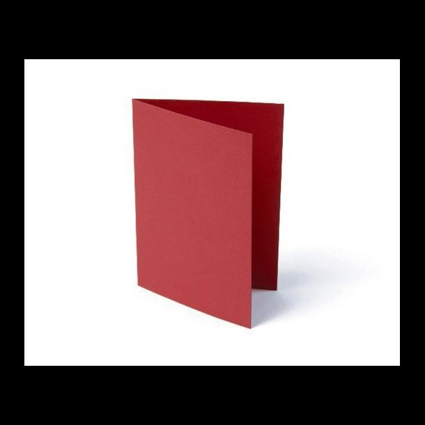 Kort foldet A7 200g rød 10stk