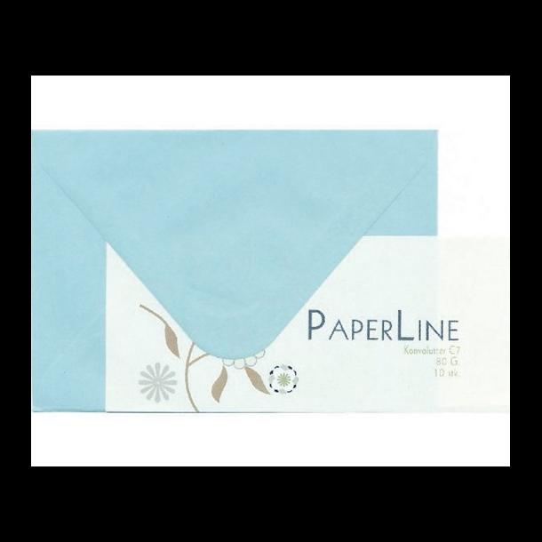 Kuvert C7 80g l.blå 10stk