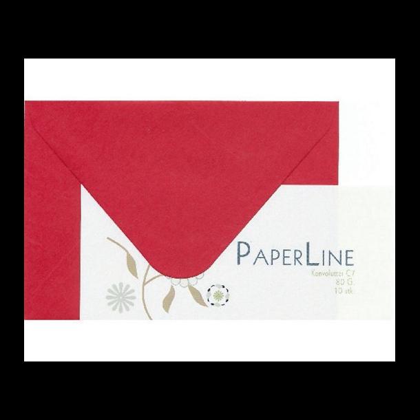 Kuvert C7 80g rød 10stk