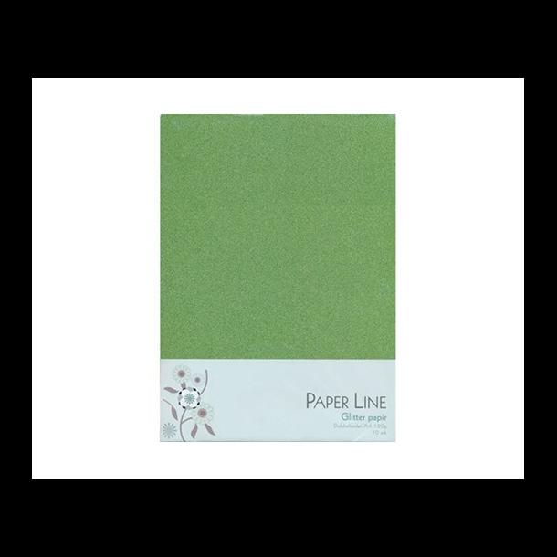 Glitter papir dobbelt A4 120g, 10stk pakke lime