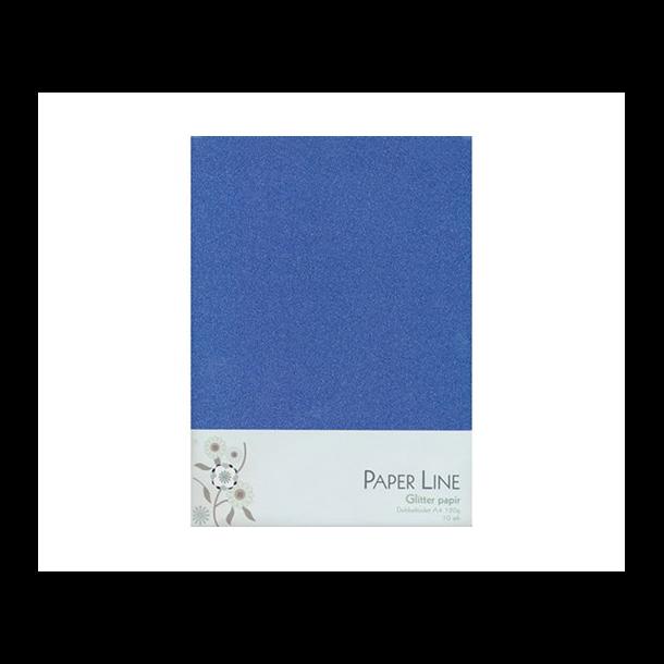 Glitter papir dobbelt A4 120g, 10stk pakke mørkblå
