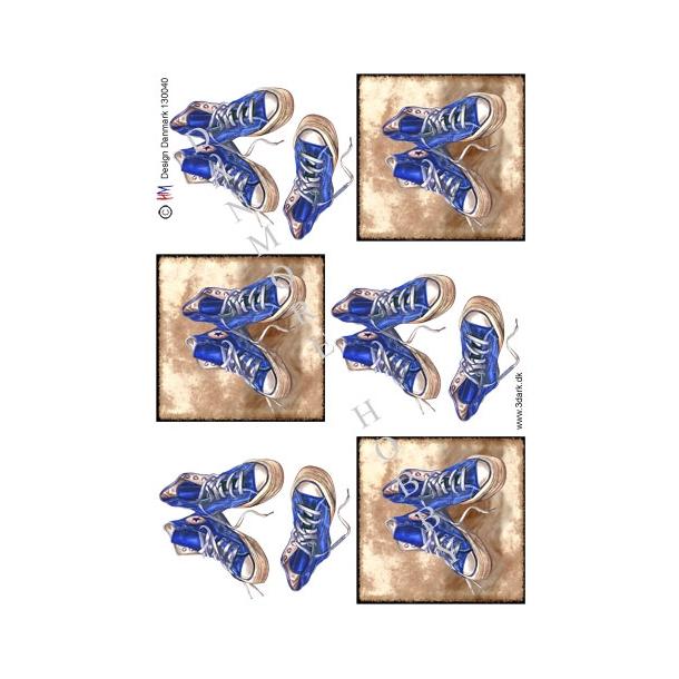 3D ark converse støvler, blå