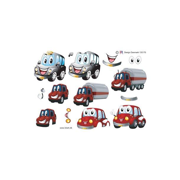 3D. ark. Søde biler