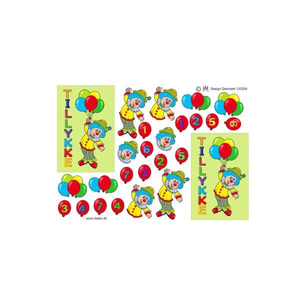 Klovn med balloner