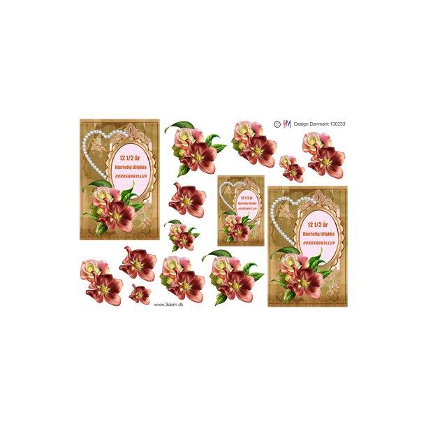 Kobberbryllups tekst og blomster