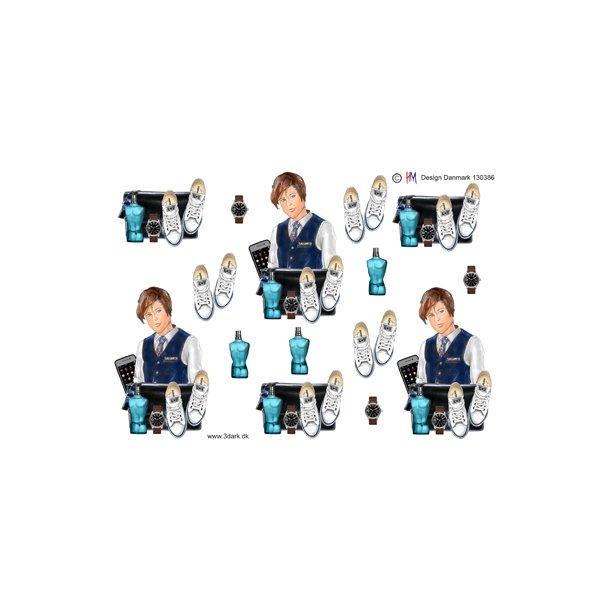Konfirmations dreng, sko, ur og parfume, HM design