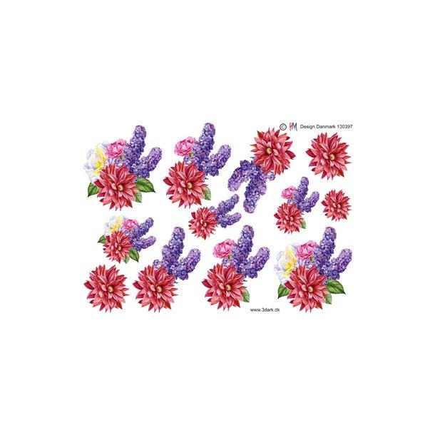 Forårsblomster i kraftige farver, HM design
