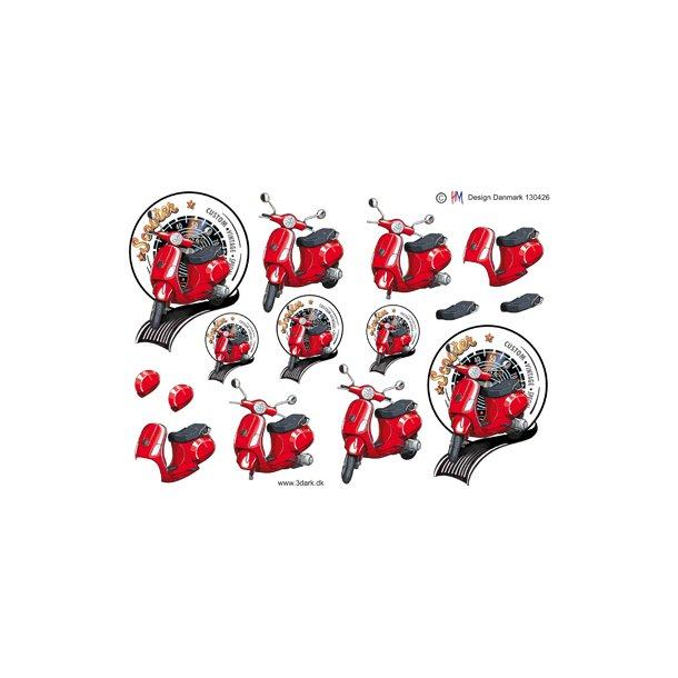 Rød scooter
