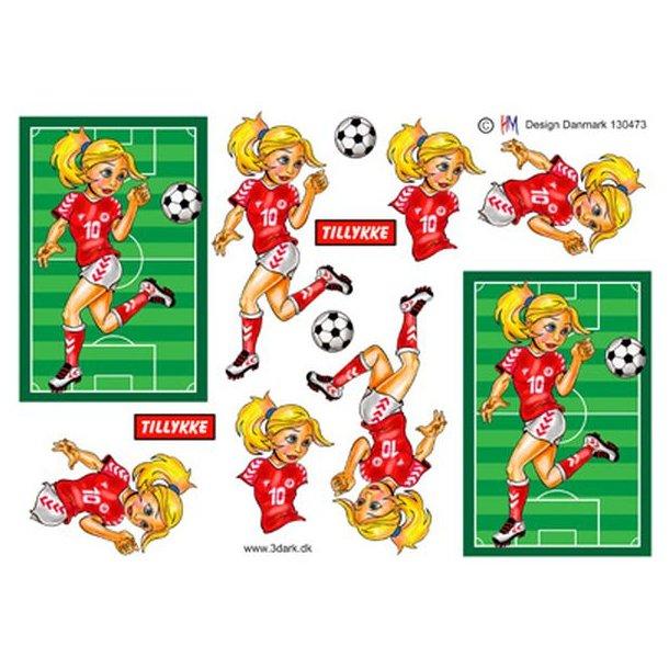 Fodbold pige der dribler