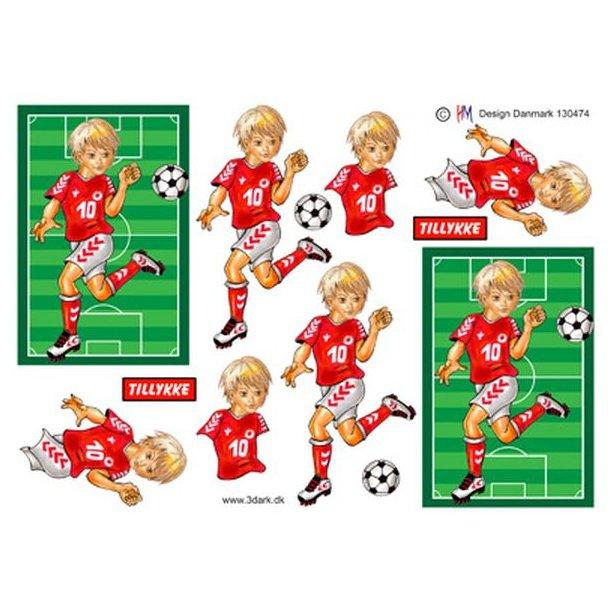 Fodbold dreng der dribler