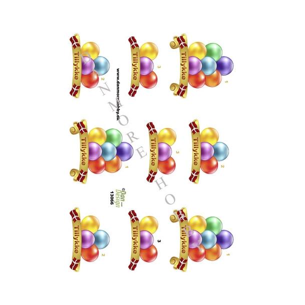 Balloner med Tillykke