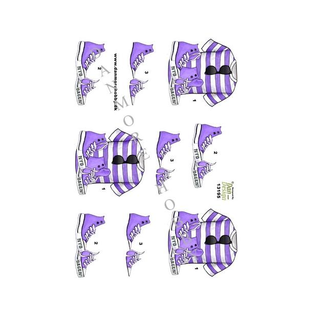 3D ark konfirmation tøj til 2. dag lilla