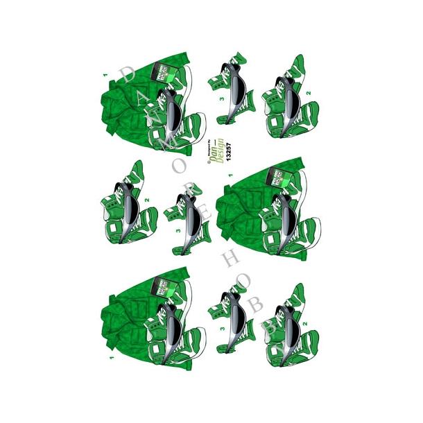 3D ark tøj til teenager grøn