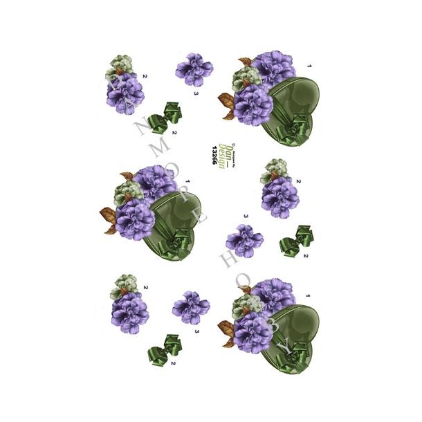 3D ark grøn gaveæske med blomst