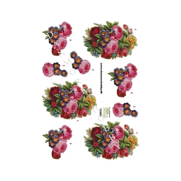 3D ark blomsterbuket