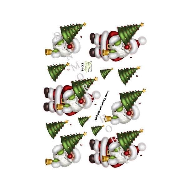 3D ark julemand med grantræ