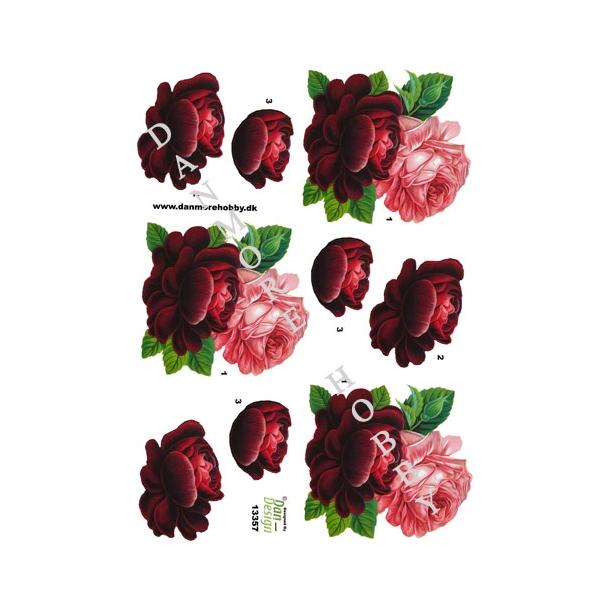 3D ark røde roser