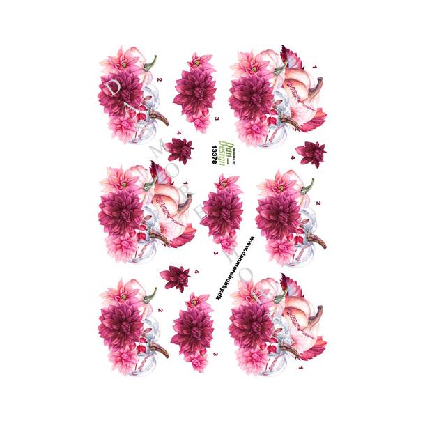3D ark blomst og græskar