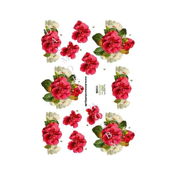 3D ark blomster