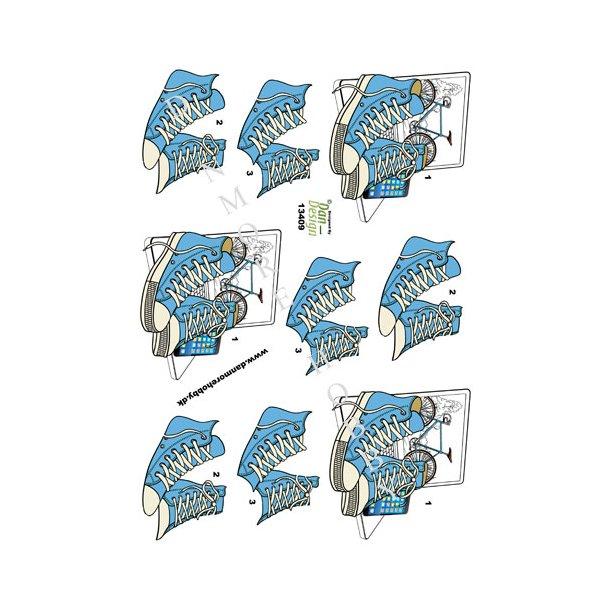 3D ark Dan-Design converse blå
