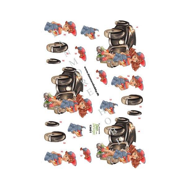 3D ark Dan-design mekaniker pige