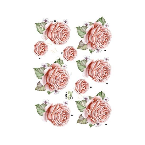 3D ark Dan-design rose lyserød
