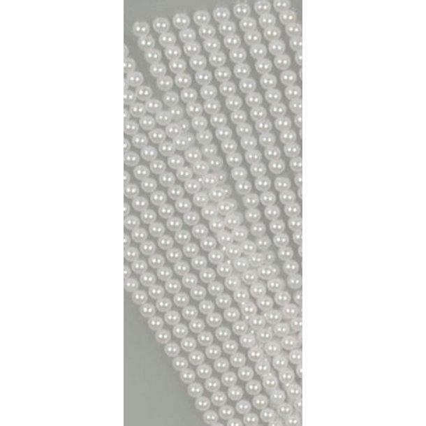 Halvperler 6mm hvid 320 stk på streng