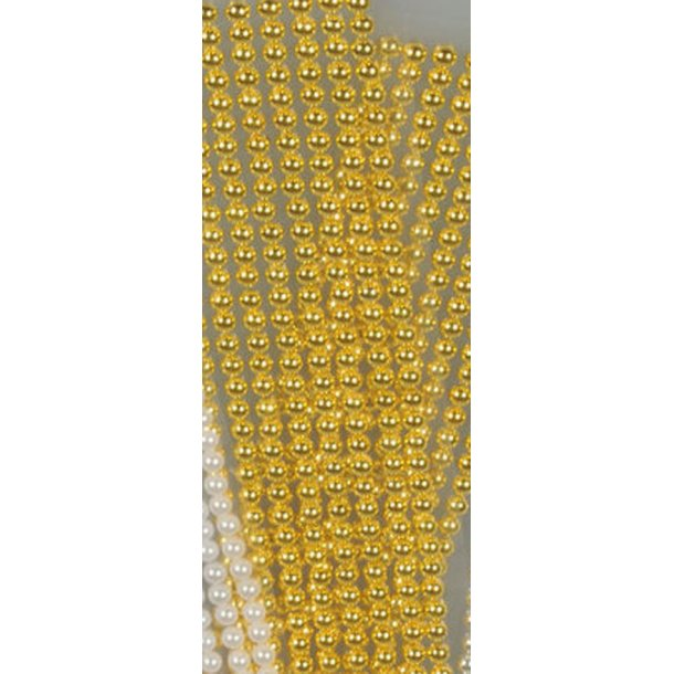 Halvperler 6mm guld 320 stk på streng