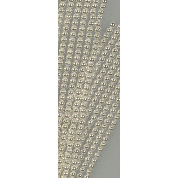 Halvperler 6mm sølv 320 stk på streng