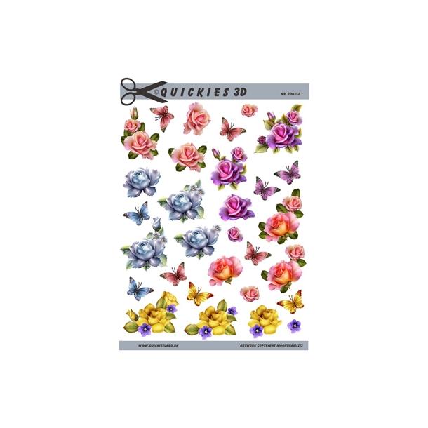 5 små blomster