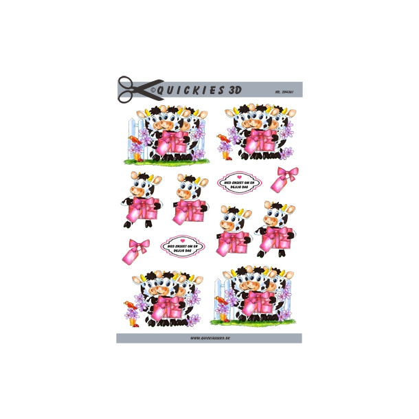 Køer med lyserød gave