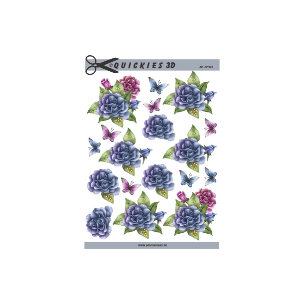 3D ark. Lilla blomster