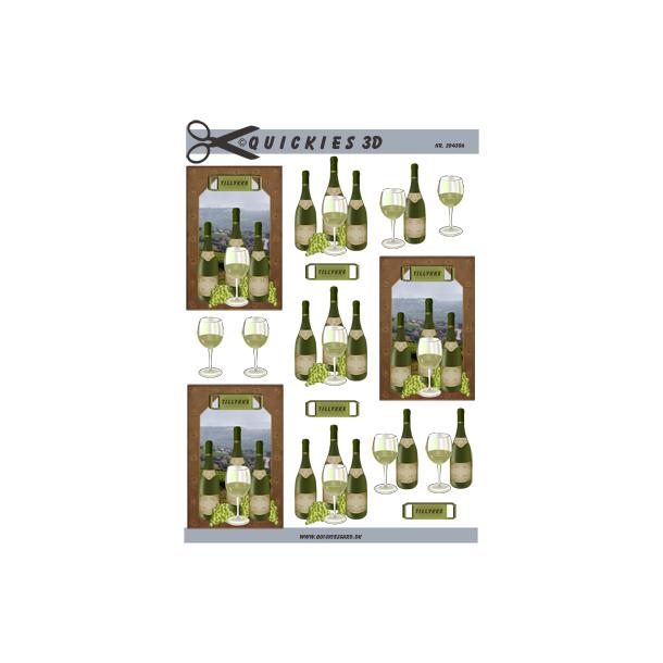 Hvidvinsflasker til små kort