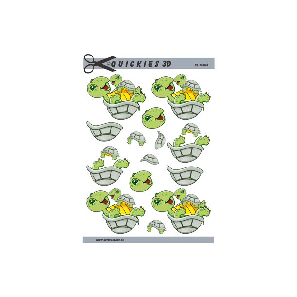 3D ark. 2 glade skildpadder
