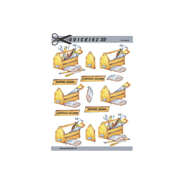 Kasse med værktøj