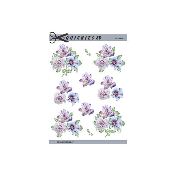 Blomserbuker i sarte farver, Quickies 3d