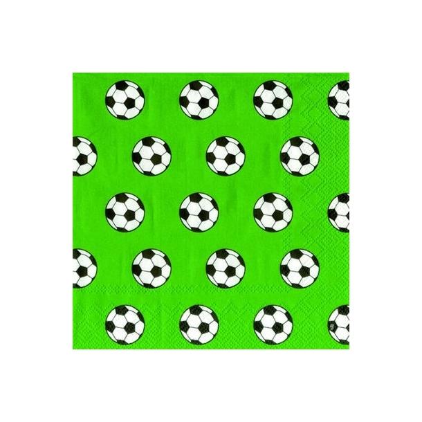 Fodbold lime frokostserviet