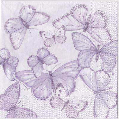 servietter med sommerfugle