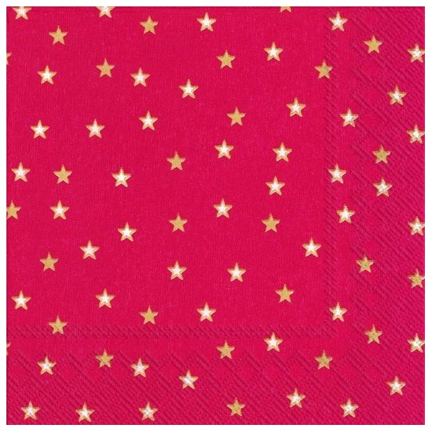 3 pk. Little Stars Red Gold Lunch, 20 stk. pr. pk.