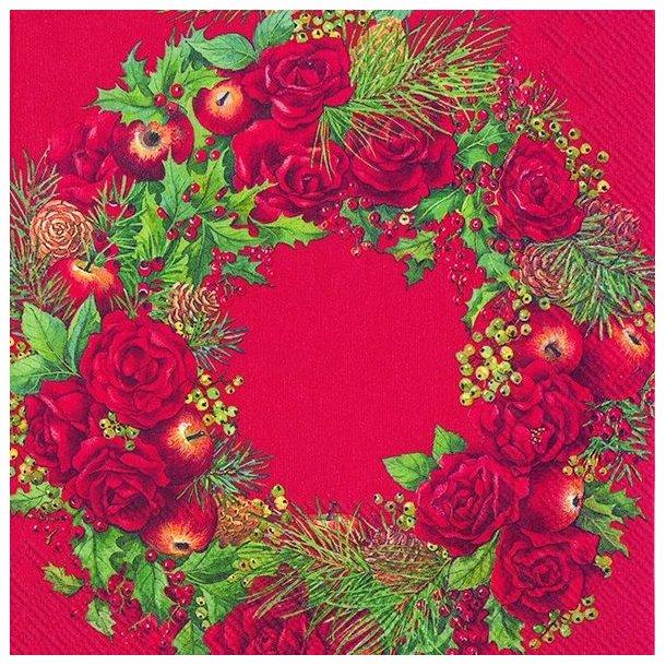 2 pk. Christmas Wreath Rød Lunch, 20 stk. pr. stk.