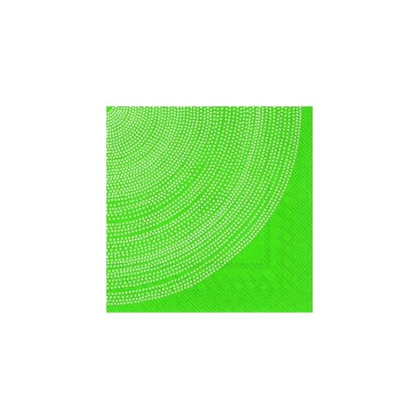 Hvid cirkel på grøn frokostserviet