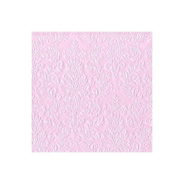 3 pk. Crisp Cameo rosa frokostserviet (Vinding), 16 stk. pr. pk.