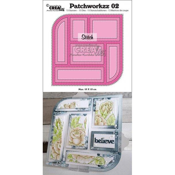 Dies Crealies Patchworkzz CLPW02 stitch