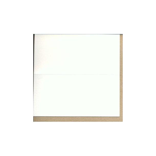 Bordkort hvid 25stk 100x50mm foldet