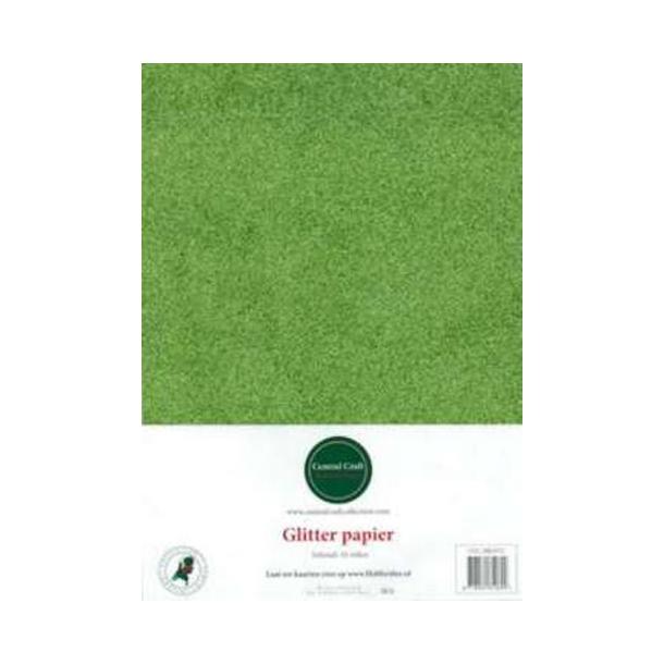 Glitter papir A4 10ark lime