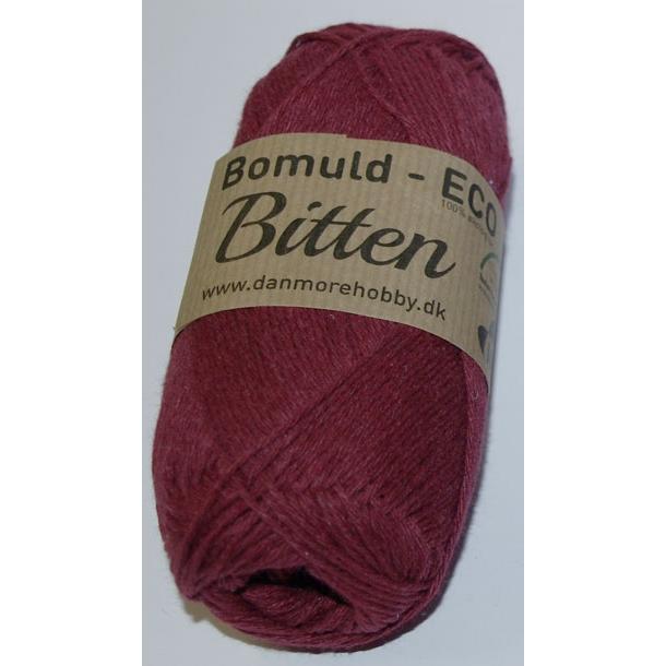 Garn Bitten bomuld Eco Bordeaux 33 - 8 stk.